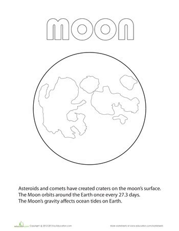 coloring page of full moon planet coloring pages education com