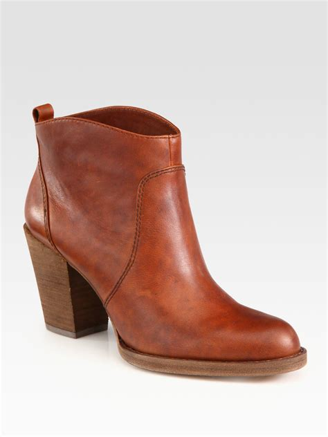 kors by michael kors wayland western leather ankle boots