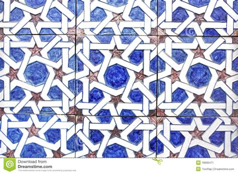 piastrelle arabe arabic tiles andalusia spain stock image image 18690471