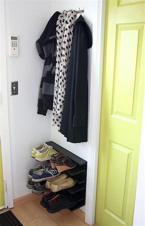 Simple Diy Shoe Rack Storage The Door For Small And Narrow Closet Spaces Ideas Not Martha Diy Shoe Rack For A Tight Space
