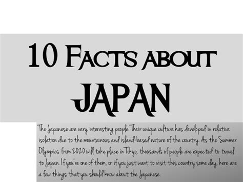 10 Facts On by 10 Facts About Japan Culture
