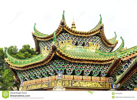 ancient roofs roof of classic house china stock image image