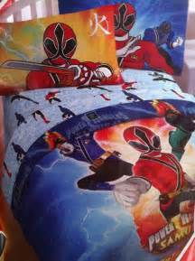 Power Rangers Duvet Set Power Ranger Samurai Comforter Superhero Collection