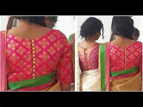 boat neck with front open back open blouse with boat neck tamil diy youtube