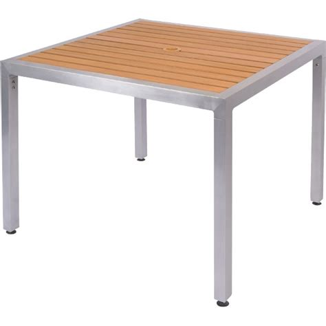 Plastic Patio Tables by Plastic Teak Aluminum Patio Table