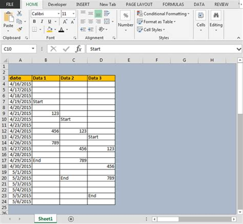 excel format zero percent as blank conditional format between first and last non blank cells