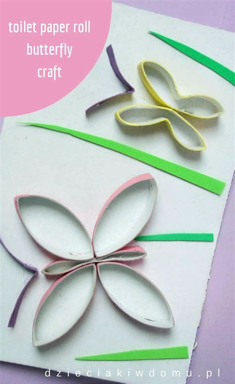 Toilet Paper Roll Butterfly Craft - 29 best toilet paper roll crafts projekty z rolek images
