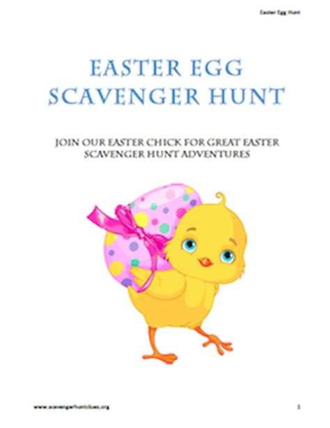easter scavenger hunt easter egg scavenger hunt nicely formatted and ready to