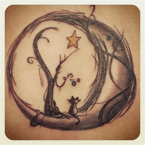 moon cat tattoo cat tattoo ideas pinterest cat