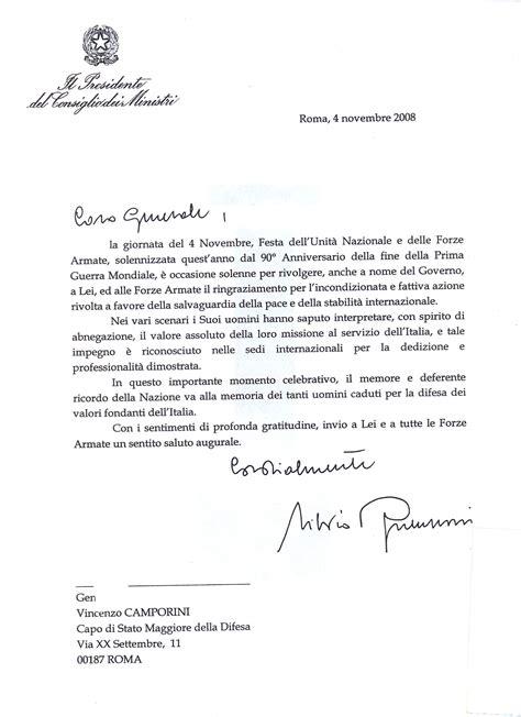 presidente consiglio dei ministri lettera presidente consiglio dei ministri al capo