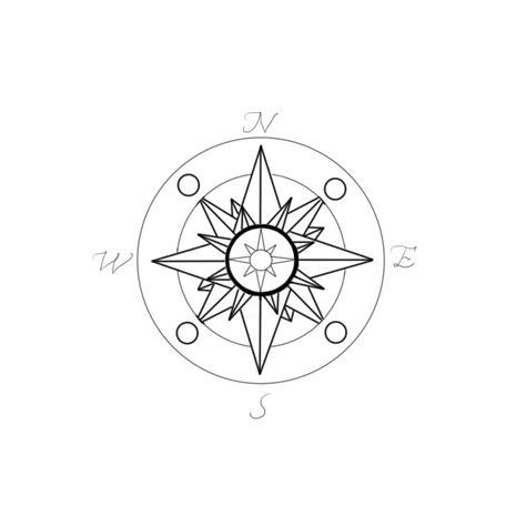 compass tattoo outline new compass rose tattoo design by madamz on deviantart