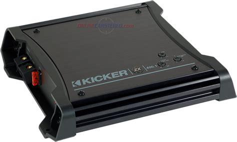 kicker zx400 1 kicker zx400 1 11zx4001 400w rms d class zx series mono