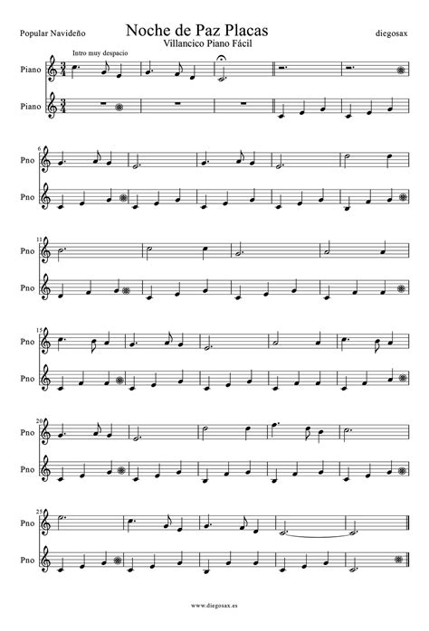 tutorial piano noche de paz diegosax noche de paz partitura de piano f 225 cil y sencillo