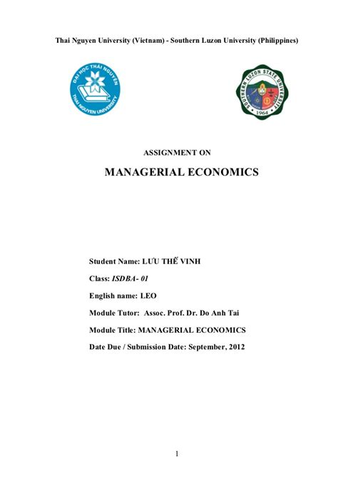 Mba Econometrics by Mba Economics Homework Help