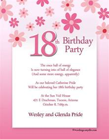 18 Birthday Invitation Templates by 18th Birthday Invitation Wording Wordings And Messages