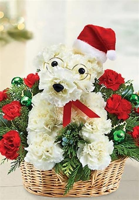 puppy flower arrangement a able santa paws flower arrangement from 1 800 flowers