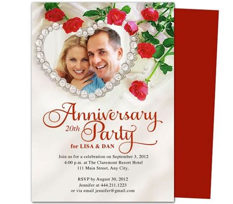 25th wedding anniversary invitations templates 9 best images about 25th 50th wedding anniversary