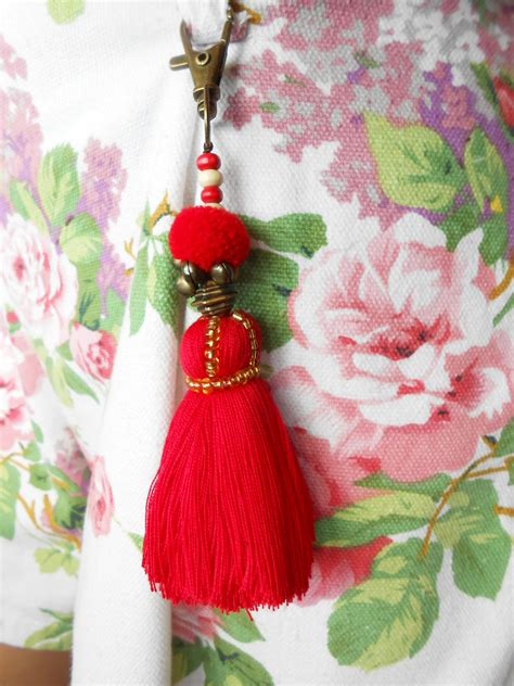 Handmade Pom Pom Decorations - handmade keychain pom poms and tassel bag accessory