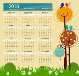 Calendar 2018 Template Ai 2018 Calendar Template Style Free