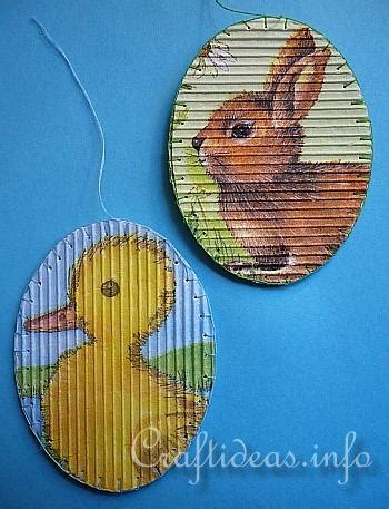 Corrugated Paper Craft - corrugated cardboard easter craft easy uses a napkin