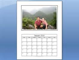 calendar template with pictures free photo calendar template in ms microsoft word format