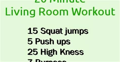 10 Minute Living Room Workout Losing Weight For All The Living Room Workout