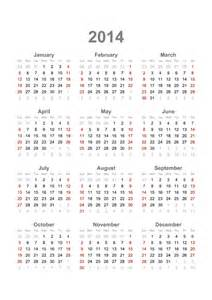 2014 12 Month Calendar Template by 2014 Calendar 12 Month Calendar Template 2016