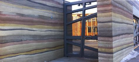 rammed earth wall detail edmonton valley zoo sirewall structural insulated