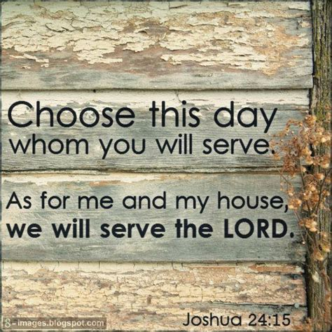 As For Me And House Wall by Choose This Day Whom You Will Serve As For Me And