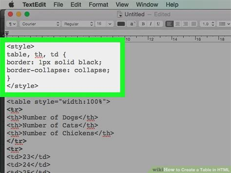 how to create table html how to create a table in html with pictures wikihow
