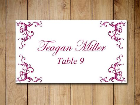 Wine Place Card Template by 1000 Ideas About Place Card Template On Diy