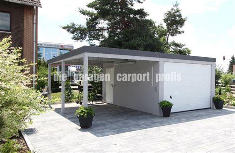 fertiggarage mit carport die garagen carport profis hochwertige fertiggaragen und