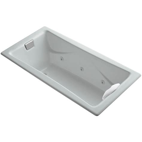 kohler tea for two bathtub kohler tea for two 5 97 ft whirlpool bath tub in ice grey