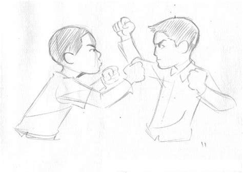Imagenes Niños Peleando Para Colorear | dibujo de ninos peleando para pintar y colorear pelea de