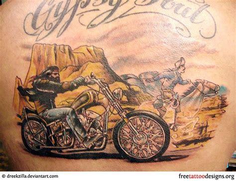 Motorrad Pin Up Tattoo by Biker And Harley Davidson Tattoos Tattoos Pinterest