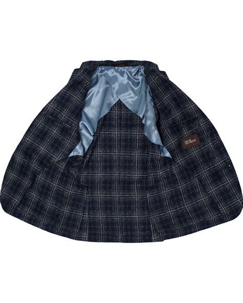 Big Pocket Med Blue by Oscar Jacobson Einar Big Check Patch Pocket Blazer Blue
