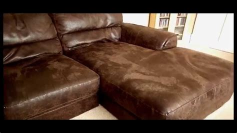 how to clean nubuck leather couch stunning 3 4 seater brown nubuck real leather right facing