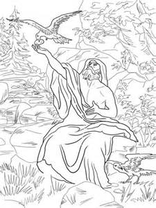 coloring page for elijah and the ravens elijah fed by ravens coloring page free printable