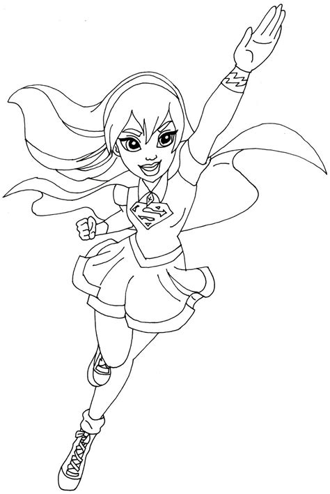 coloring page of a superhero free printable super hero high coloring page for supergirl