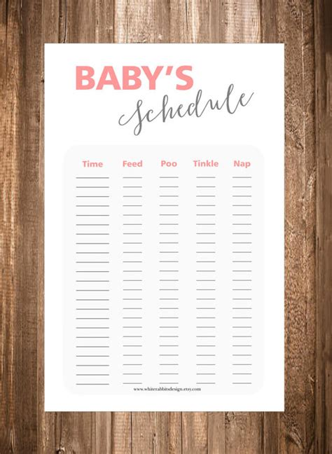 baby routine template baby schedule template 10 free sle exle format