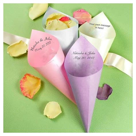 How To Make Paper Cones For Food - 100 personalized paper cones petal cones food by