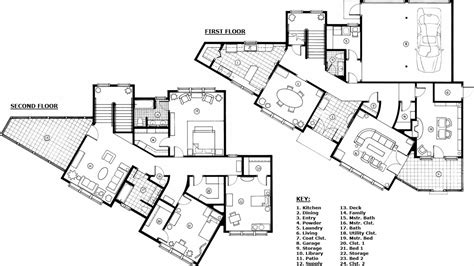 Technical Floor Plan | home floor plan drawing modern house