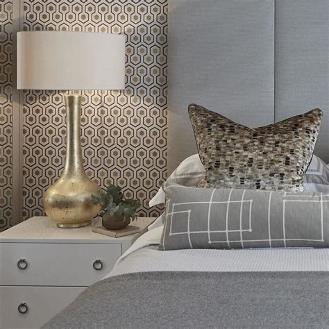 grey gold bedroom gray bedroom with gold leaf l contemporary bedroom