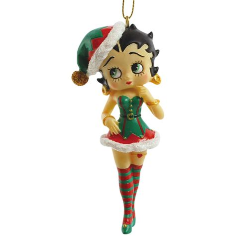 betty boop elf betty hanging christmas ornament by