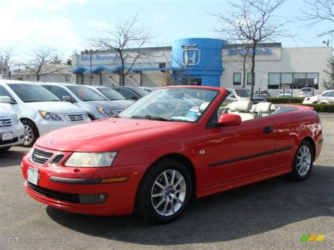 saab convertible red 2004 laser red saab 9 3 arc convertible 46870389