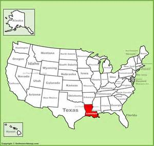 us map la louisiana location on the u s map