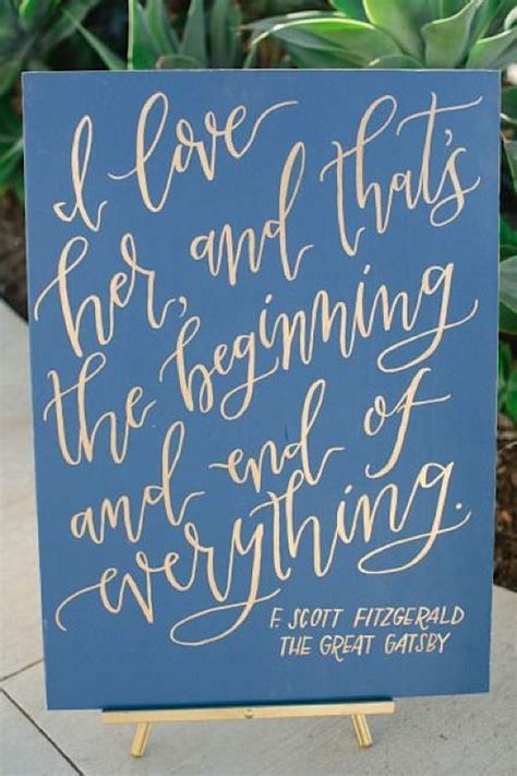 Wedding Quotes Garden by Wedding Quotes The Great Gatsby Quote Literary Wedding