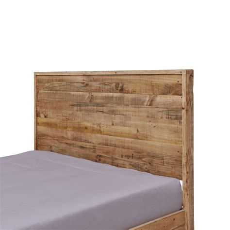 Portland Recycled Solid Pine Rustic Timber King Size Bed Frame Rustic King Bed Frame