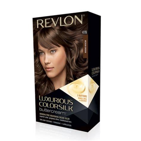 revlon colorsilk beautiful color 41 medium brown hair color revlon luxurious colorsilk buttercream hair color 41n
