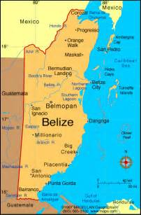 map central america belize